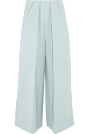 DELPOZO Pleated twill wide-leg pants