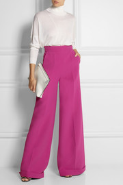 DELPOZO Wool-crepe wide-leg pants