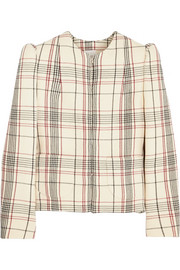 DELPOZO Checked wool-crepe jacket