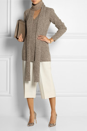 Marc Jacobs Ribbed-knit cashmere scarf