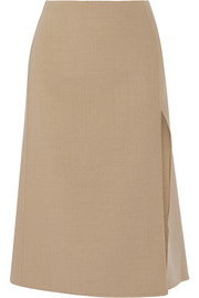 Marc Jacobs Wool-blend stretch-cady midi skirt