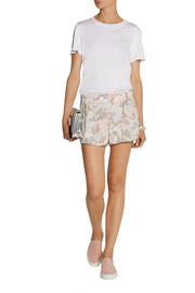 Marc Jacobs Printed crepe shorts