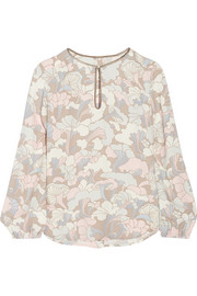 Marc Jacobs Printed crepe blouse