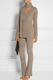 Marc Jacobs Ribbed-knit cashmere flared pants