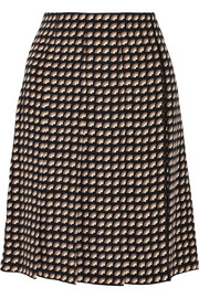 Marc Jacobs Wrap-effect printed cady skirt