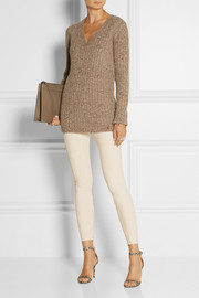 Marc Jacobs Paneled stretch wool-blend leggings-style pants