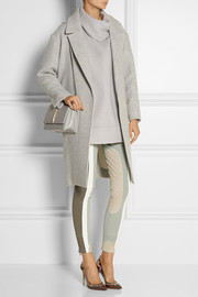 Marc Jacobs Leather-trimmed paneled ponte leggings