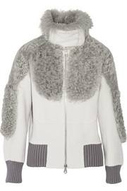Marc Jacobs Shearling-trimmed alpaca-blend bomber jacket