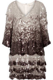 Marc Jacobs Dégradé paillette-embellished silk-organza tunic