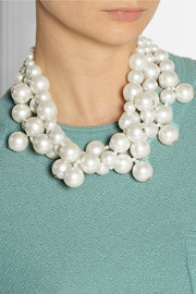 Kenneth Jay LaneGold-plated faux pearl necklace
