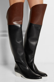 Alexander Wang Lovanni two-tone leather over-the-knee boots