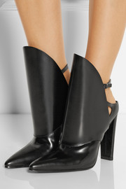 Alexander Wang Lys polished-leather ankle boots