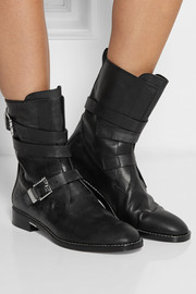 Alexander Wang Louise distressed leather biker boots
