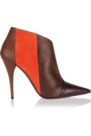 Narciso Rodriguez Sarah leather, suede and watersnake ankle boots