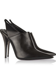 Narciso Rodriguez Cindy watersnake and leather slingback mules