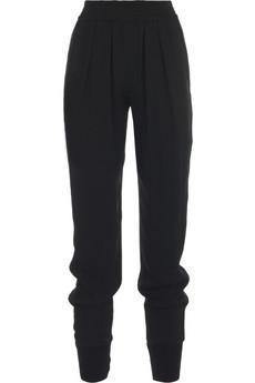 Stella McCartneyCrepe slouchy peg-leg pants