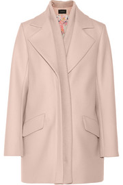Thakoon Ribbed-trimmed wool-blend coat