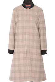 Thakoon Quilted plaid woven coat