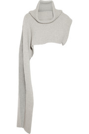Thakoon Funnel-neck merino wool shrug