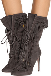 Aquazzura Carly fringed suede boots