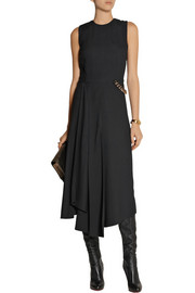 Victoria Beckham Chain-embellished crepe midi dress