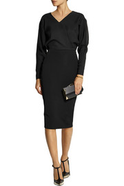 Victoria Beckham Satin-crepe and stretch-crepe dress