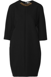 Victoria Beckham Chain-embellished crepe mini dress