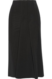 Victoria Beckham Pleated stretch-jersey skirt