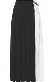 Victoria Beckham Pleated gazar maxi skirt