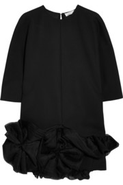 Victoria Beckham Silk organza-trimmed crepe mini dress