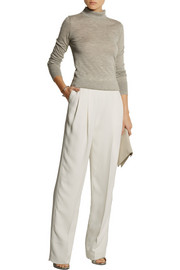 Victoria Beckham Pleated crepe wide-leg pants