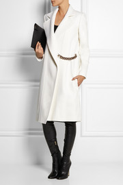 Victoria Beckham Chain-embellished wool-blend felt coat