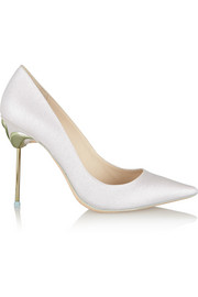 Sophia Webster Coco glitter-finished twill pumps