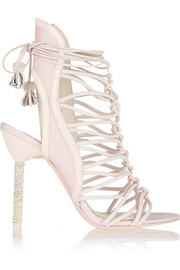 Sophia Webster Lacey crystal-embellished leather sandals