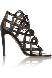 Aquazzura + Olivia Palermo cutout leather sandals