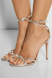 Aquazzura + Olivia Palermo mirrored-leather sandals