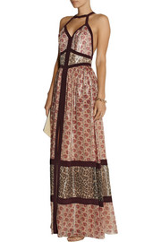 Tamara Mellon Printed silk-blend maxi dress