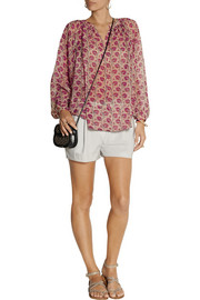 Tamara Mellon Printed silk-blend georgette blouse