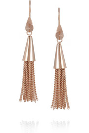 Eddie Borgo Rose gold-plated tassel earrings