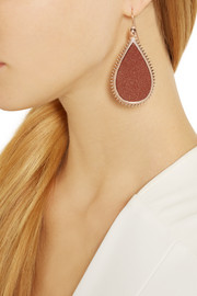 Eddie Borgo Rose gold-plated sandstone earrings