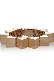 Eddie Borgo Rose gold-plated pyramid bracelet