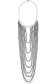Eddie Borgo Berber rhodium-plated sandstone necklace