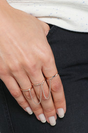 Eddie Borgo Rose gold-plated three-finger ring
