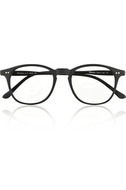 Whitman D-frame matte-acetate optical glasses