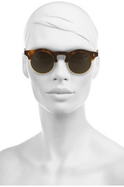 Illesteva Corsica round-frame acetate and metal sunglasses
