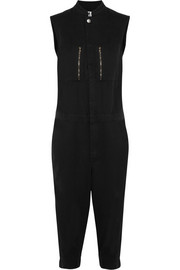 Racer cotton-twill jumpsuit