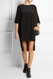 OAK Wide washed-silk mini dress