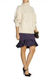 Oscar de la Renta Chunky-knit alpaca-blend turtleneck sweater