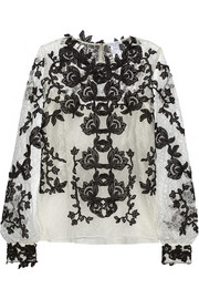 Oscar de la Renta Chantilly lace blouse