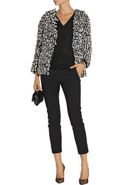 Oscar de la Renta Looped-knit wool and silk-blend jacket